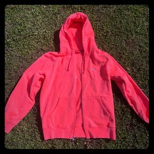Fluorescent pink Supreme hoodie jacket size large